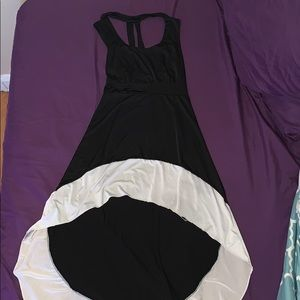 Cute black and white high low dress